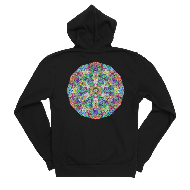 Emphasis 31 Mandala Kaleidoscope Women's Sponge Fleece Zip-Up Hoody by The Digital Crafts Shop