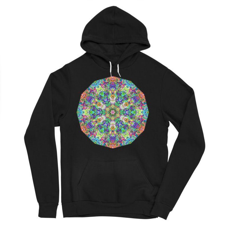 Emphasis 31 Mandala Kaleidoscope Women's Sponge Fleece Pullover Hoody by The Digital Crafts Shop