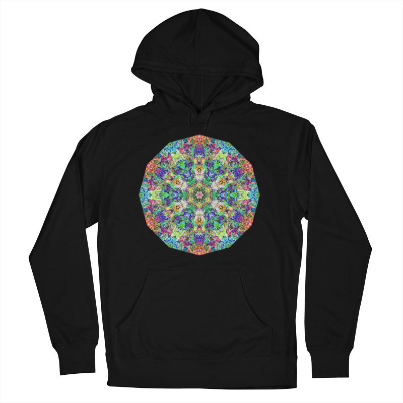 Emphasis 31 Mandala Kaleidoscope Women's French Terry Pullover Hoody by The Digital Crafts Shop