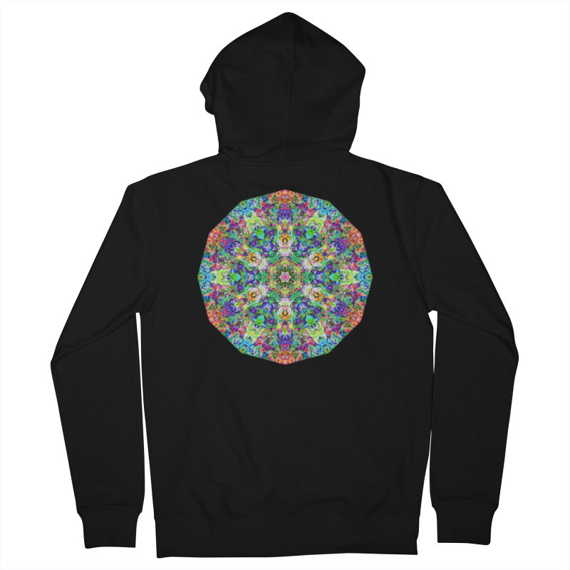 Emphasis 31 Mandala Kaleidoscope Women's French Terry Zip-Up Hoody by The Digital Crafts Shop
