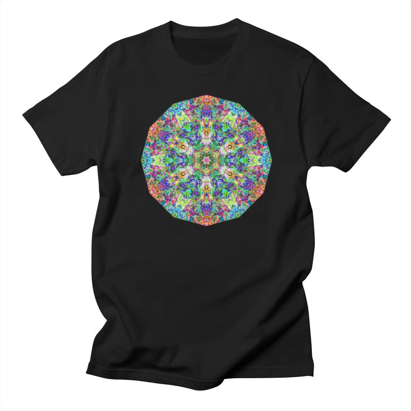 Emphasis 31 Mandala Kaleidoscope Women's Regular Unisex T-Shirt by The Digital Crafts Shop