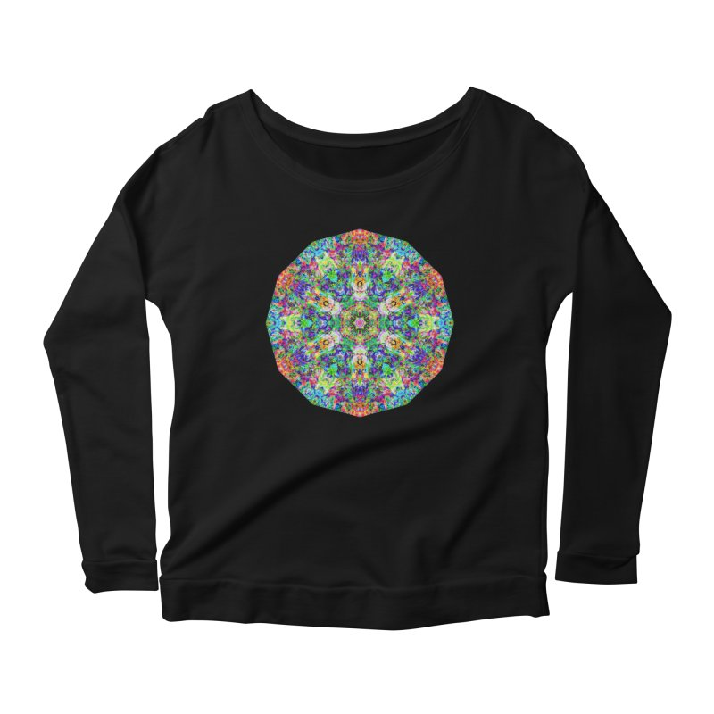 Emphasis 31 Mandala Kaleidoscope Women's Scoop Neck Longsleeve T-Shirt by The Digital Crafts Shop