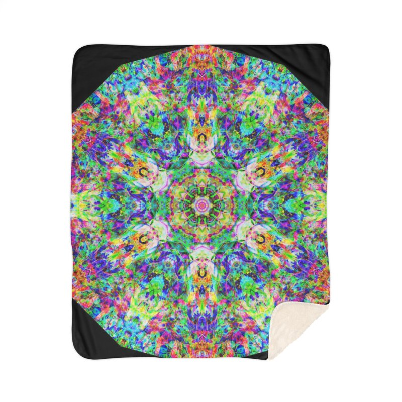 Emphasis 31 Mandala Kaleidoscope Home Sherpa Blanket Blanket by The Digital Crafts Shop