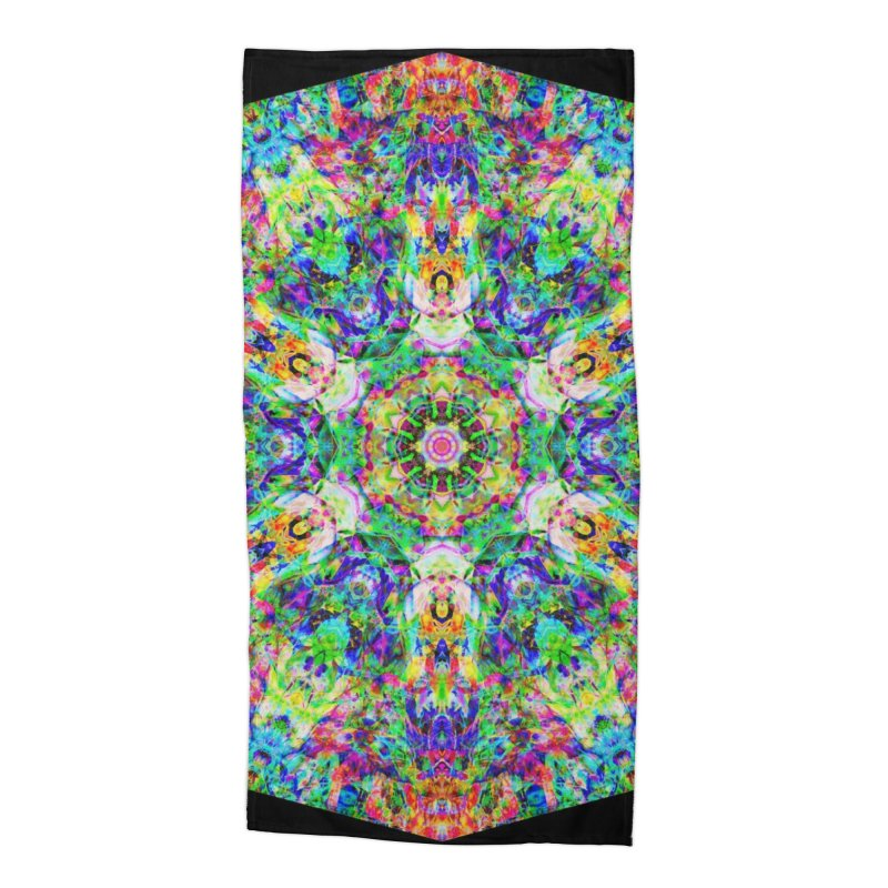 Emphasis 31 Mandala Kaleidoscope Accessories Beach Towel by The Digital Crafts Shop