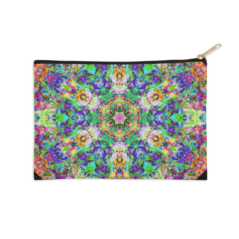 Emphasis 31 Mandala Kaleidoscope Accessories Zip Pouch by The Digital Crafts Shop
