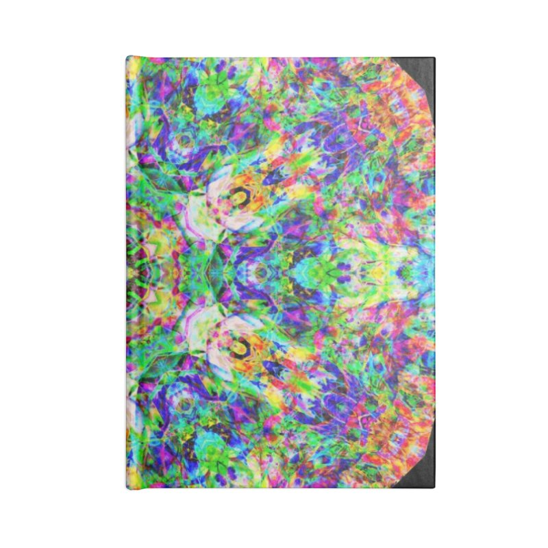 Emphasis 31 Mandala Kaleidoscope Accessories Lined Journal Notebook by The Digital Crafts Shop
