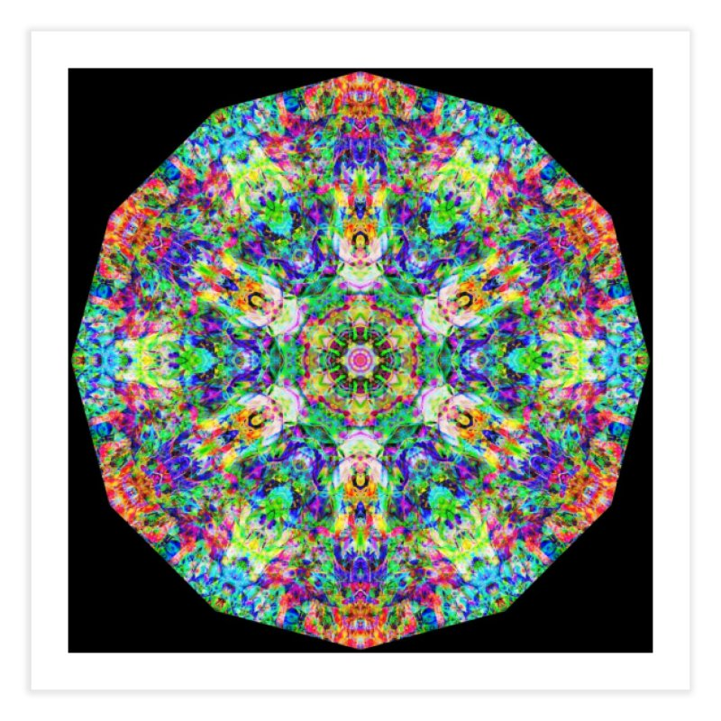 Emphasis 31 Mandala Kaleidoscope Home Fine Art Print by The Digital Crafts Shop