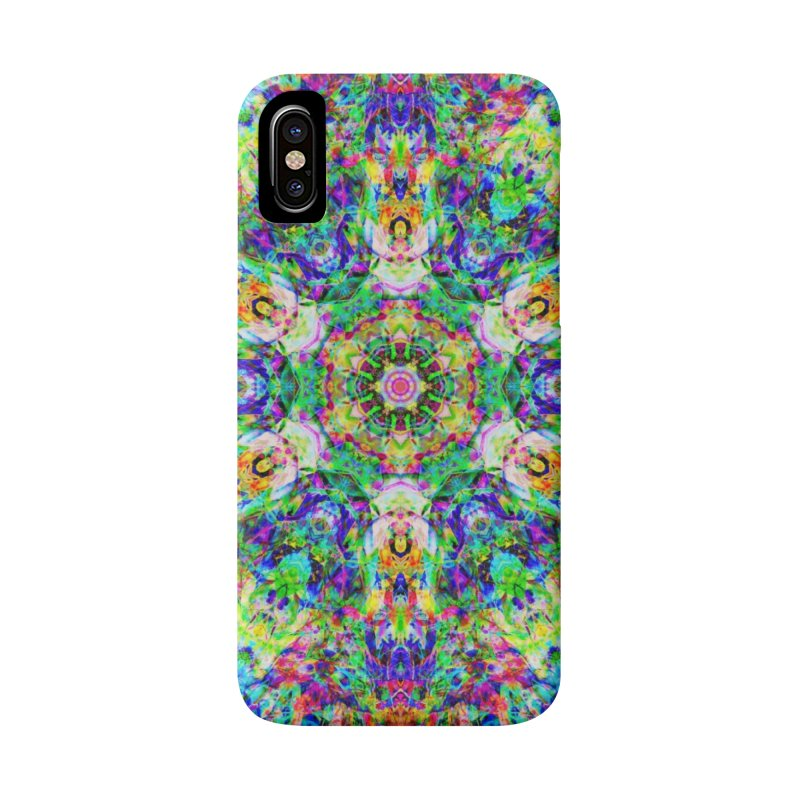 Emphasis 31 Mandala Kaleidoscope Accessories Phone Case by The Digital Crafts Shop