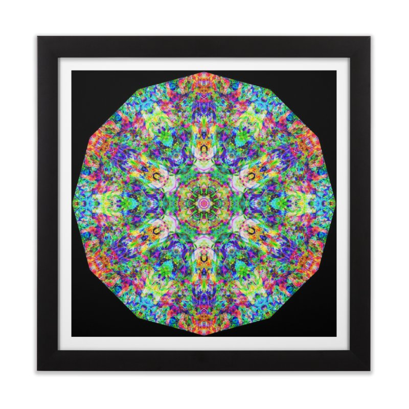 Emphasis 31 Mandala Kaleidoscope Home Framed Fine Art Print by The Digital Crafts Shop