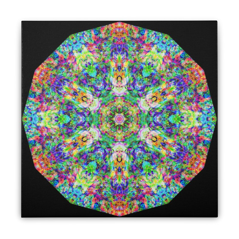 Emphasis 31 Mandala Kaleidoscope Home Stretched Canvas by The Digital Crafts Shop
