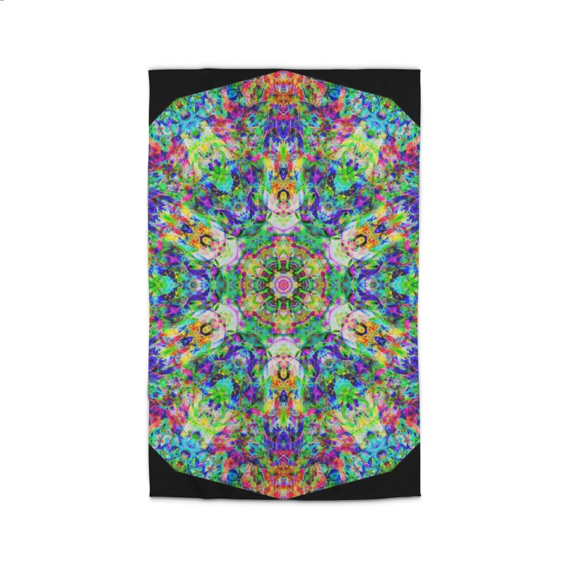 Emphasis 31 Mandala Kaleidoscope Home Rug by The Digital Crafts Shop