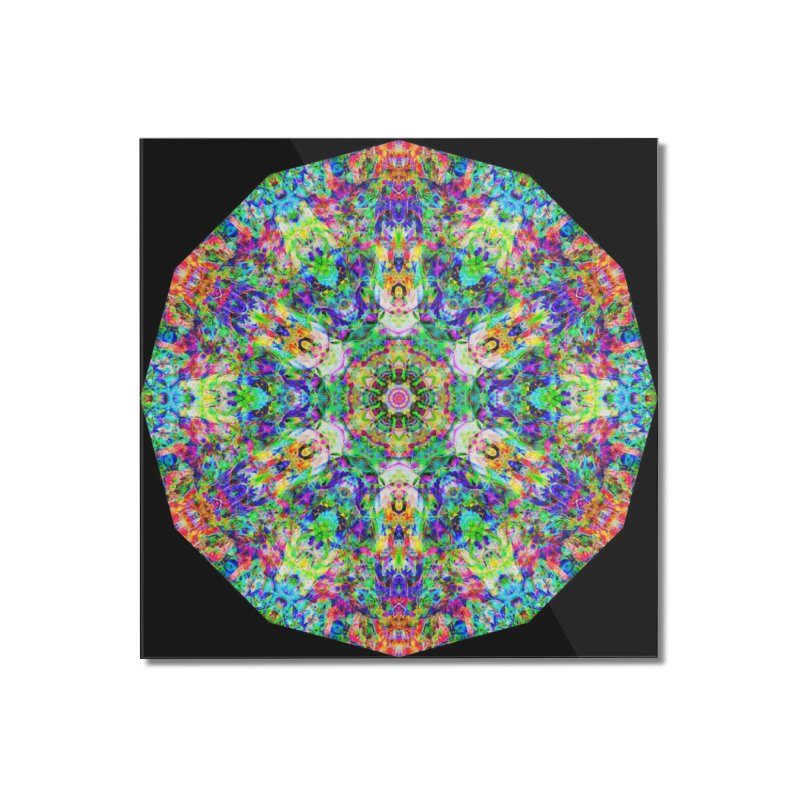 Emphasis 31 Mandala Kaleidoscope Home Mounted Acrylic Print by The Digital Crafts Shop