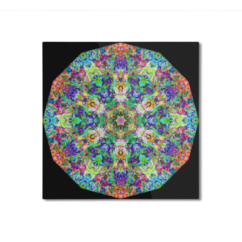 Emphasis 31 Mandala Kaleidoscope Home Mounted Aluminum Print by The Digital Crafts Shop