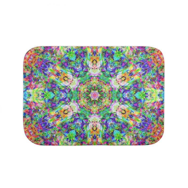 Emphasis 31 Mandala Kaleidoscope Home Bath Mat by The Digital Crafts Shop