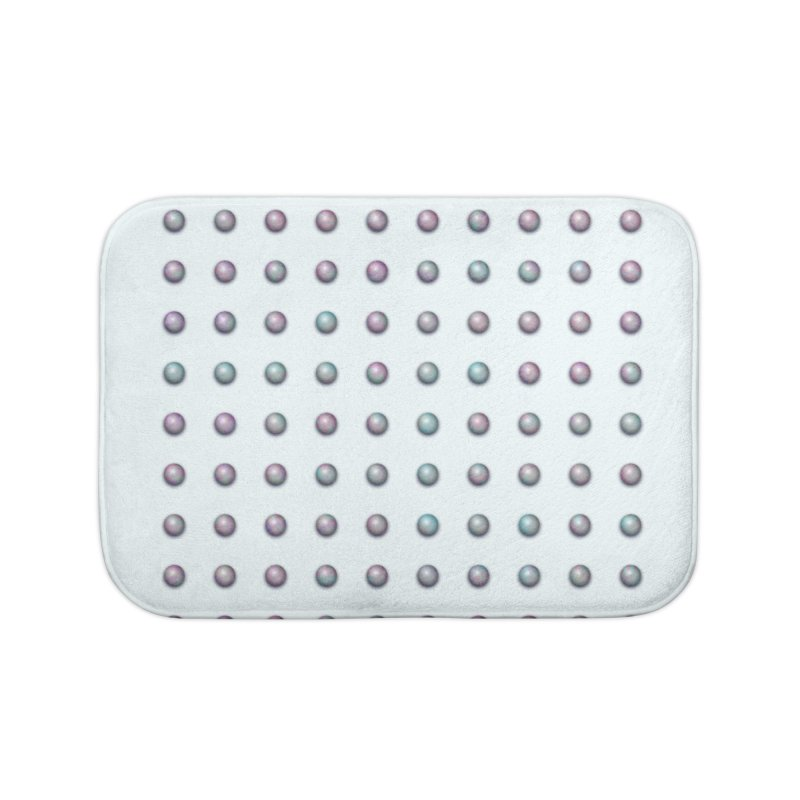 Organized Color Pearls Home Bath Mat by The Digital Crafts Shop