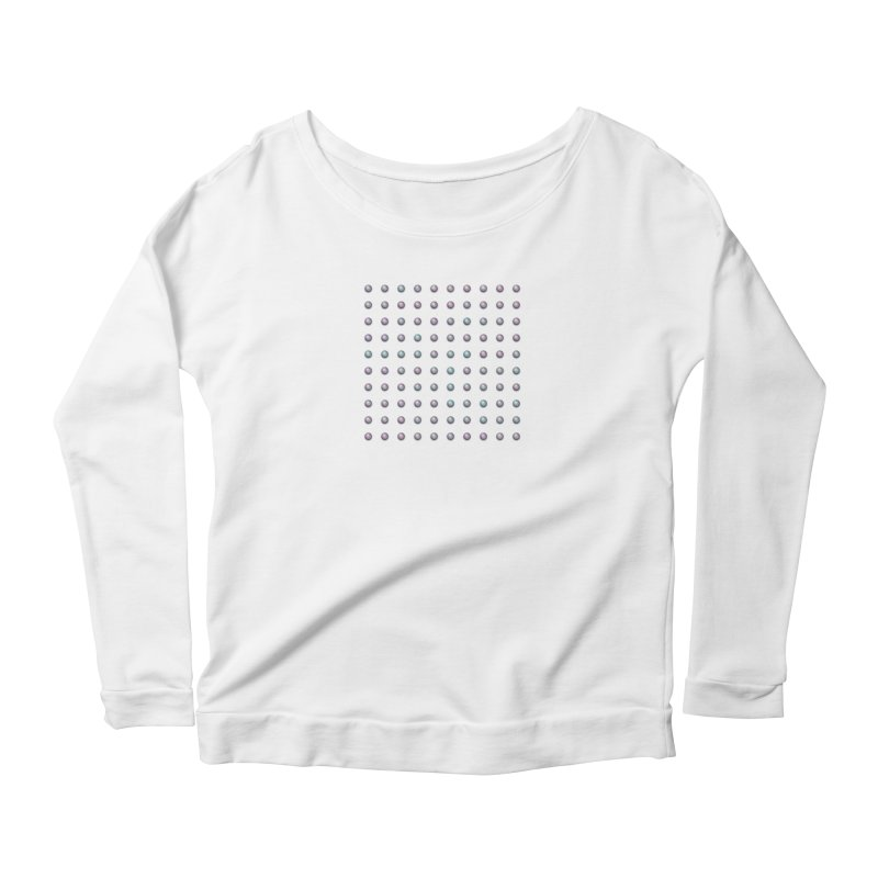 Organized Color Pearls Women's Scoop Neck Longsleeve T-Shirt by The Digital Crafts Shop