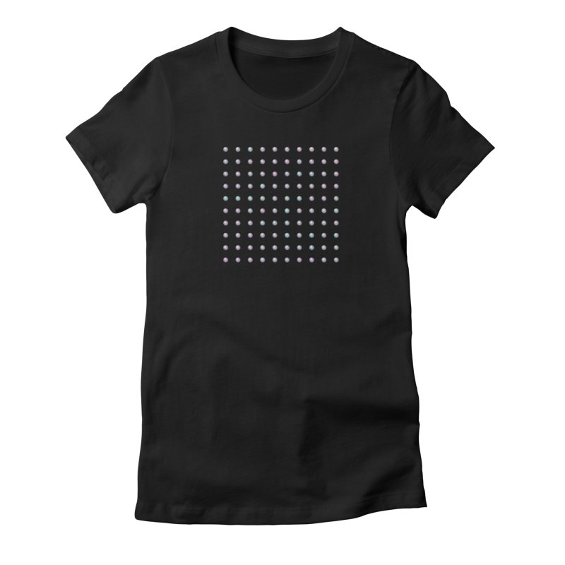 Organized Color Pearls Women's Fitted T-Shirt by The Digital Crafts Shop