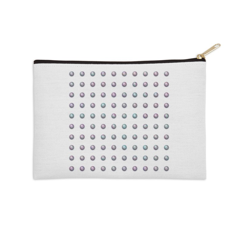 Organized Color Pearls Accessories Zip Pouch by The Digital Crafts Shop