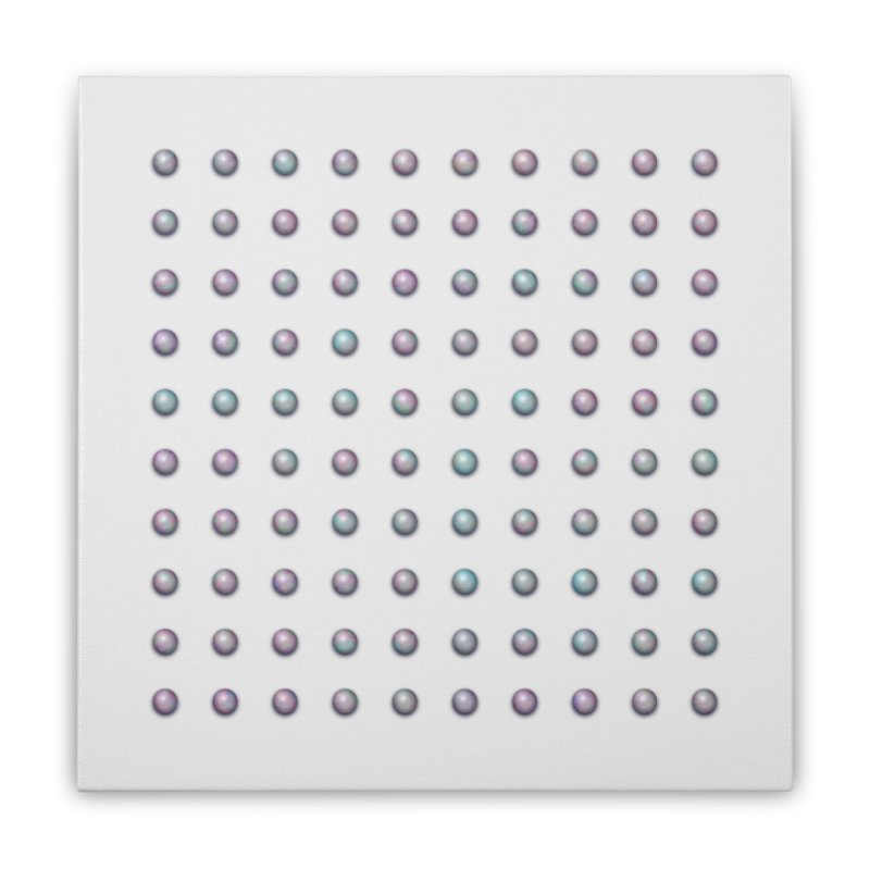 Organized Color Pearls Home Stretched Canvas by The Digital Crafts Shop
