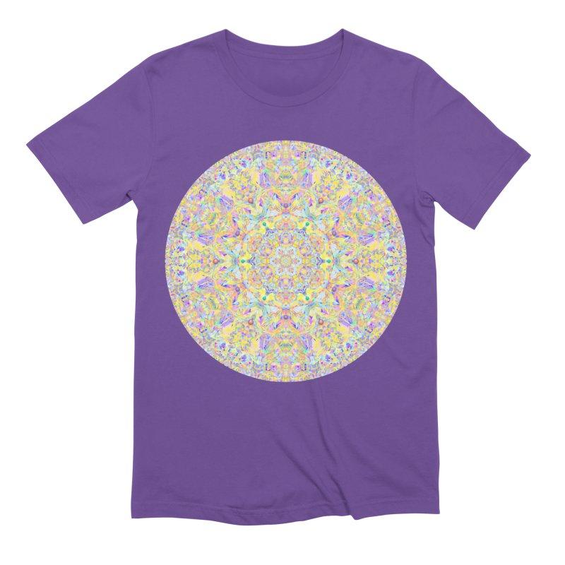 Pretty Pastel Mandala Men's Extra Soft T-Shirt by The Digital Crafts Shop