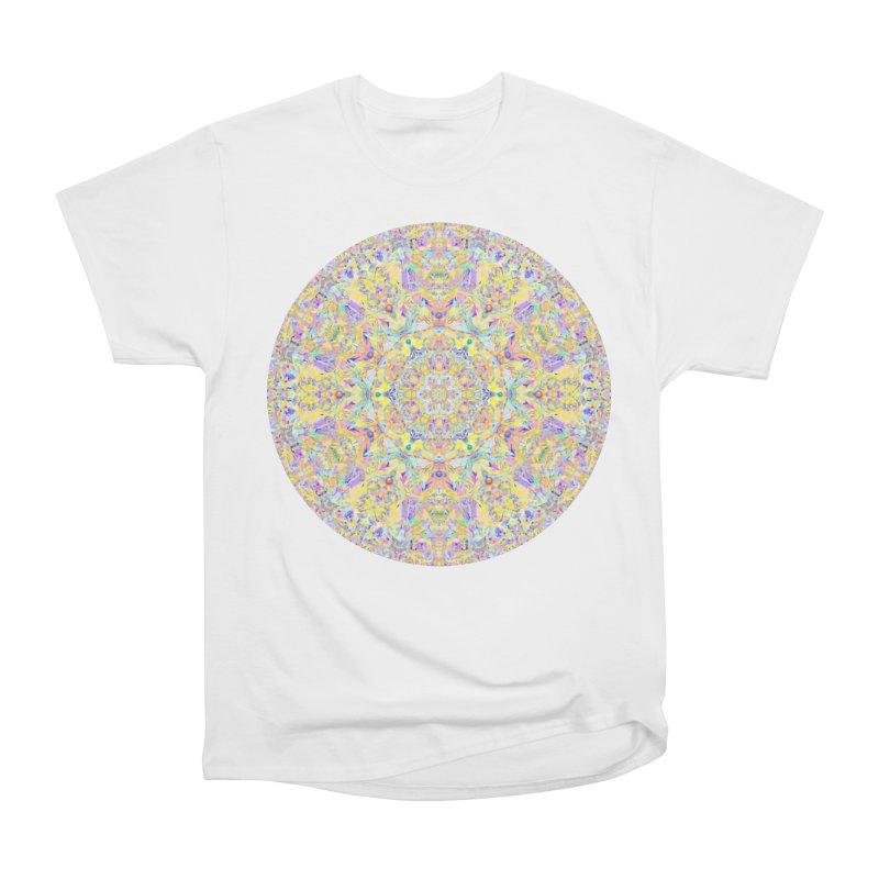Pretty Pastel Mandala Women's Heavyweight Unisex T-Shirt by The Digital Crafts Shop