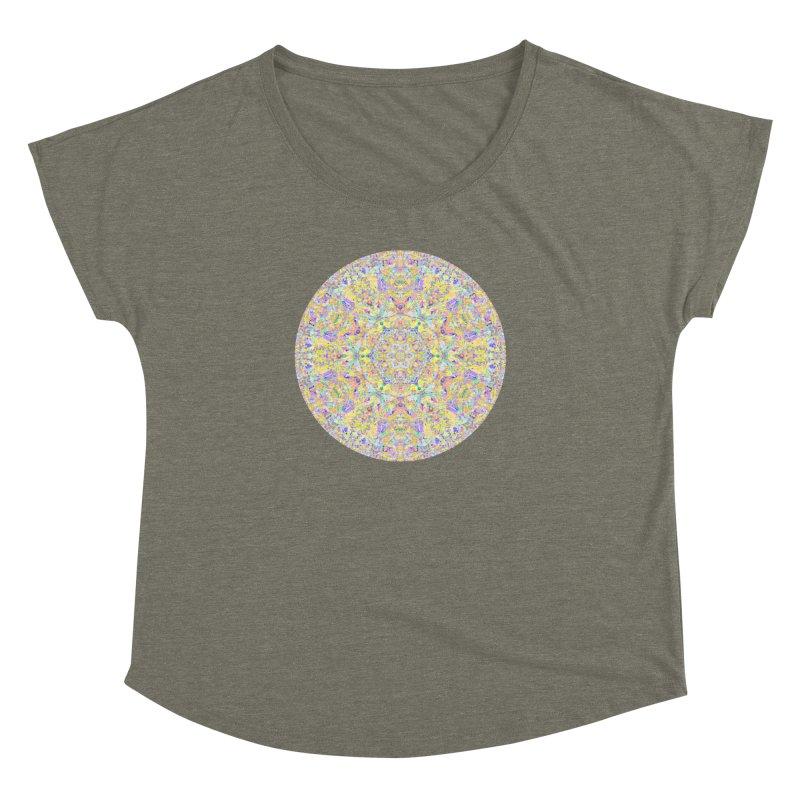 Pretty Pastel Mandala Women's Dolman Scoop Neck by The Digital Crafts Shop