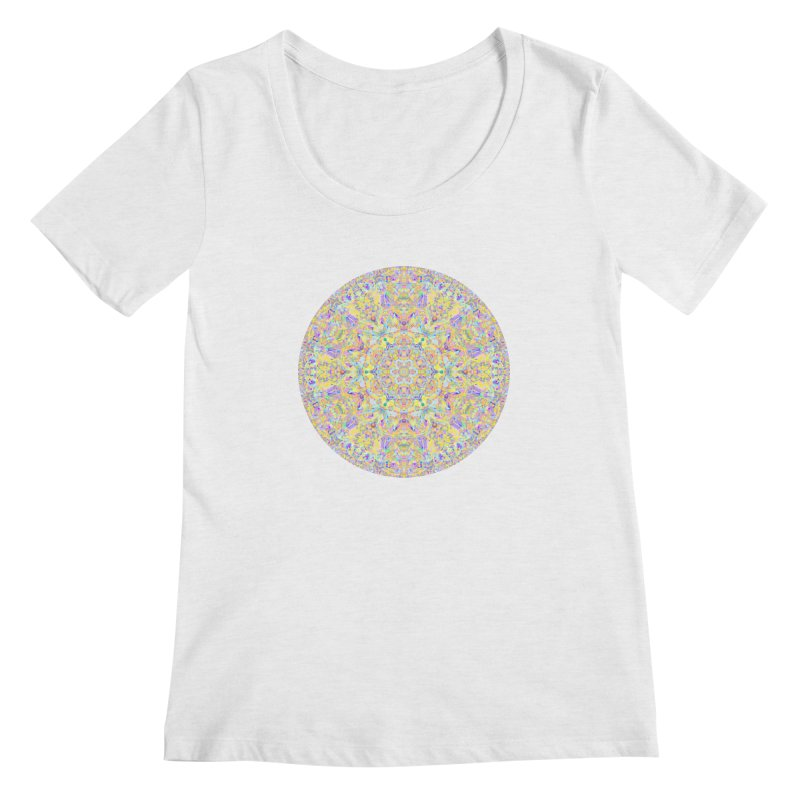 Pretty Pastel Mandala Women's Regular Scoop Neck by The Digital Crafts Shop