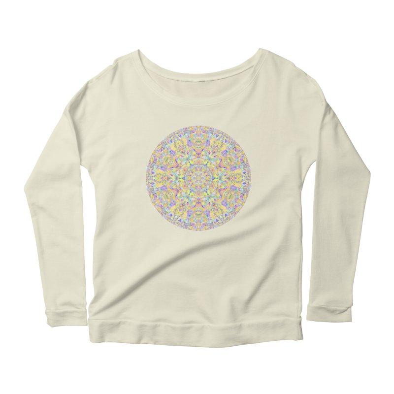 Pretty Pastel Mandala Women's Scoop Neck Longsleeve T-Shirt by The Digital Crafts Shop