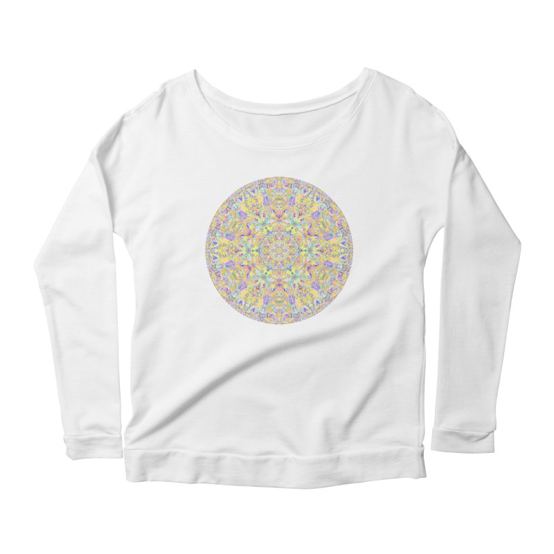 Pretty Pastel Mandala Women's Scoop Neck Longsleeve T-Shirt by The Digital Crafts Shop