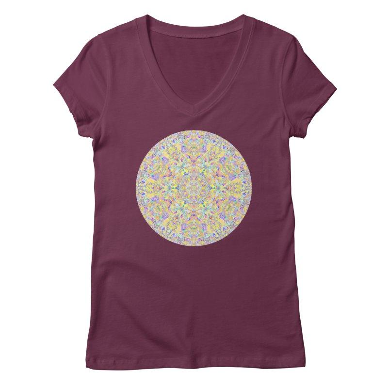 Pretty Pastel Mandala Women's Regular V-Neck by The Digital Crafts Shop