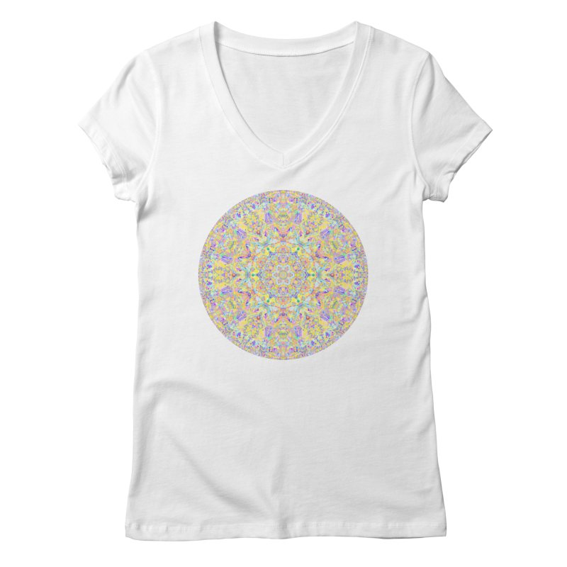 Pretty Pastel Mandala Women's Regular V-Neck by The Digital Crafts Shop