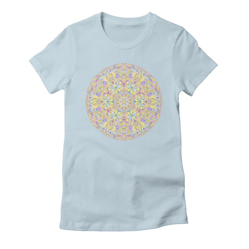 Pretty Pastel Mandala Women's Fitted T-Shirt by The Digital Crafts Shop