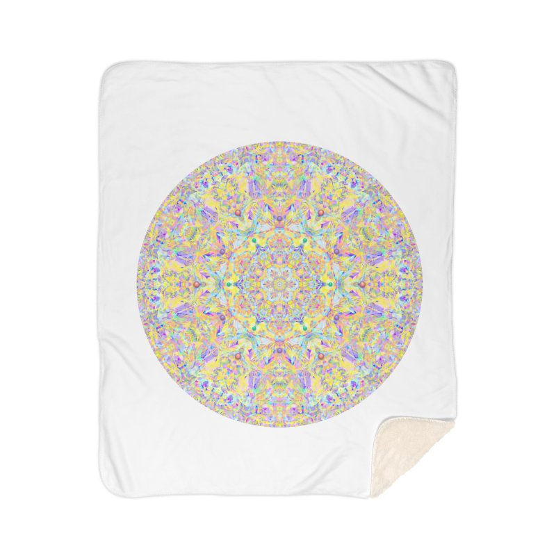 Pretty Pastel Mandala Home Sherpa Blanket Blanket by The Digital Crafts Shop