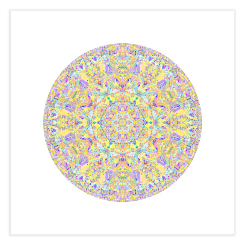 Pretty Pastel Mandala Home Fine Art Print by The Digital Crafts Shop