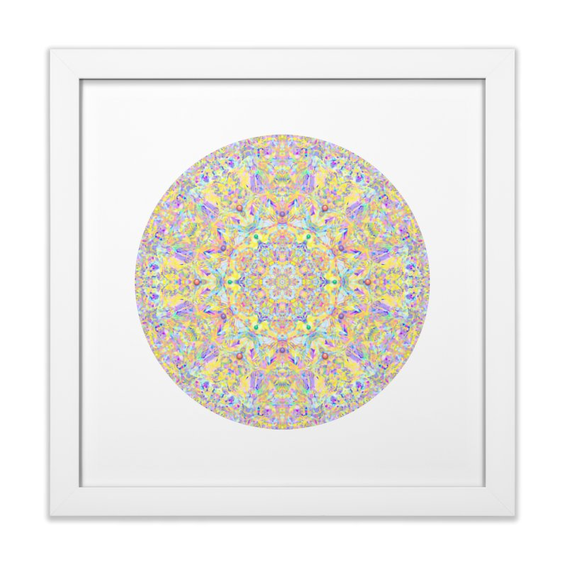 Pretty Pastel Mandala Home Framed Fine Art Print by The Digital Crafts Shop