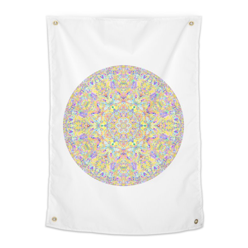 Pretty Pastel Mandala Home Tapestry by The Digital Crafts Shop