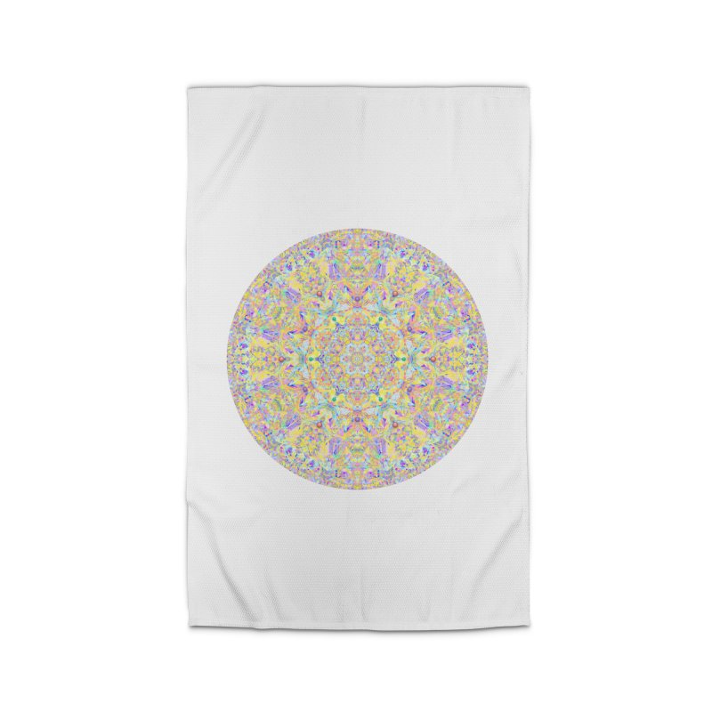 Pretty Pastel Mandala Home Rug by The Digital Crafts Shop