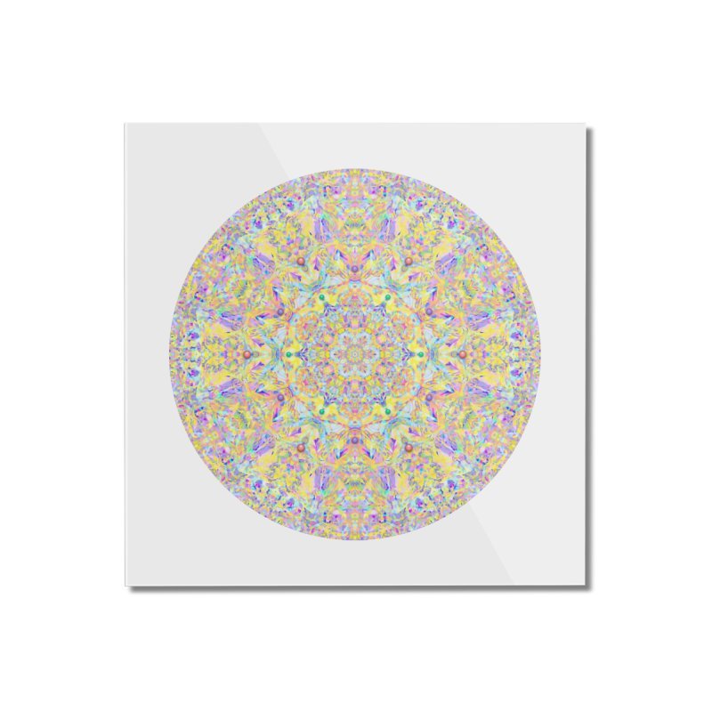 Pretty Pastel Mandala Home Mounted Acrylic Print by The Digital Crafts Shop