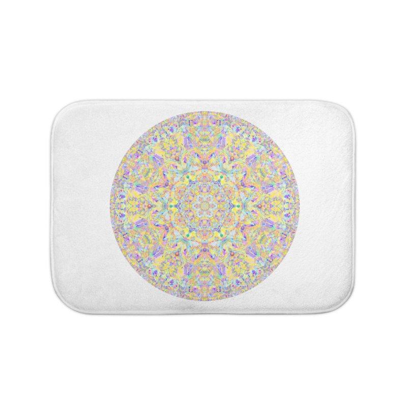 Pretty Pastel Mandala Home Bath Mat by The Digital Crafts Shop