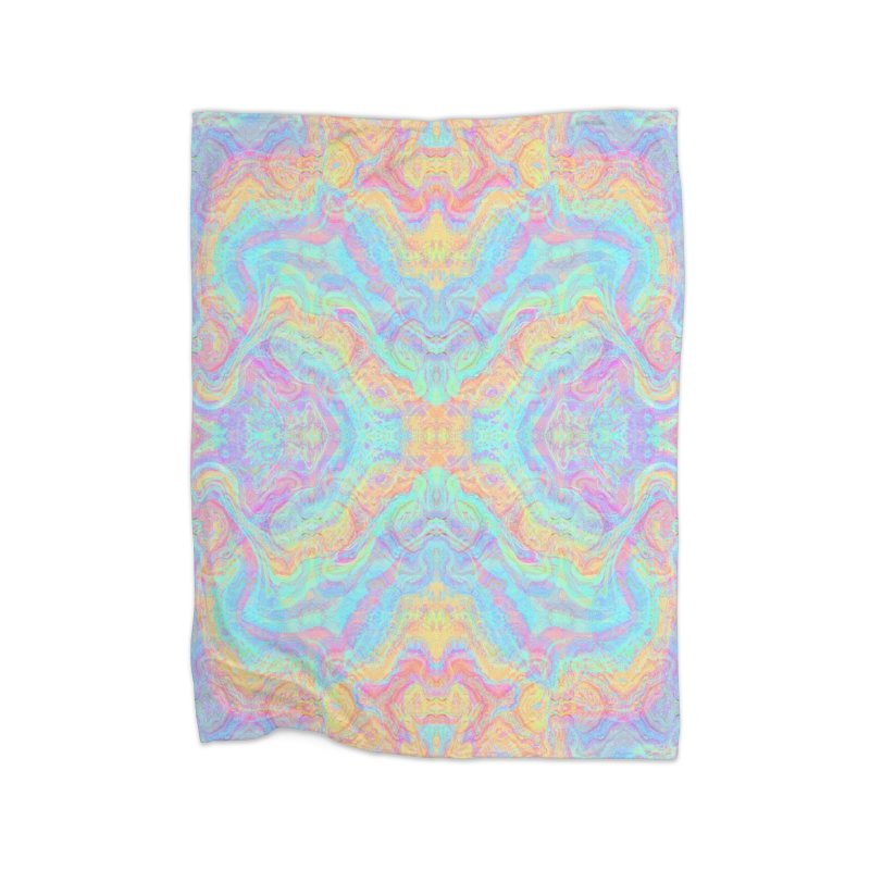 Transcendental Non-Oriental Home Fleece Blanket Blanket by The Digital Crafts Shop