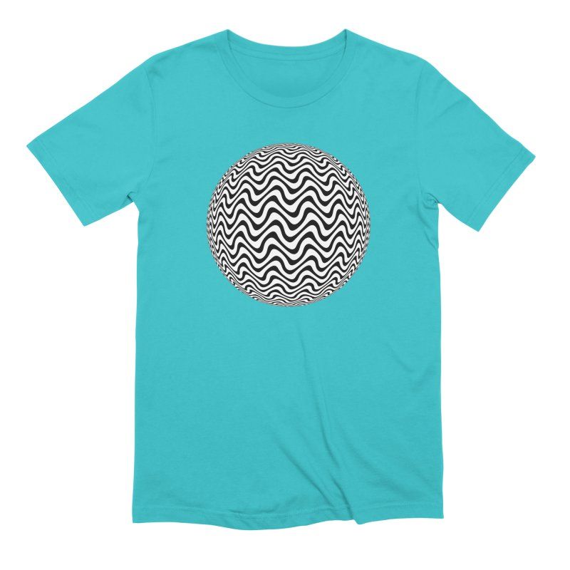 Decorative Black and White Op Art on Orange Men's Extra Soft T-Shirt by The Digital Crafts Shop