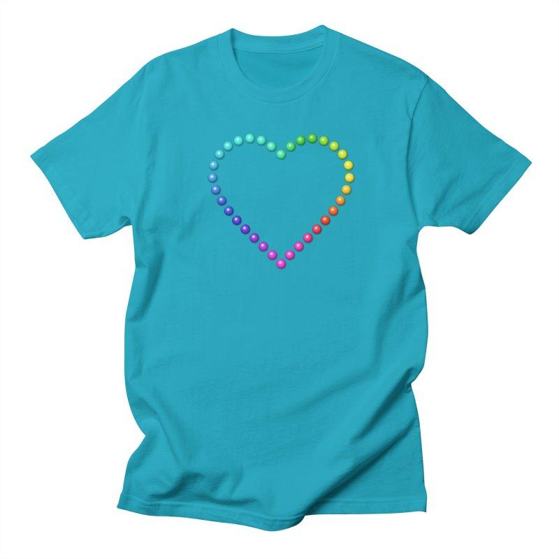 Rainbow Heart Men's Regular T-Shirt by The Digital Crafts Shop
