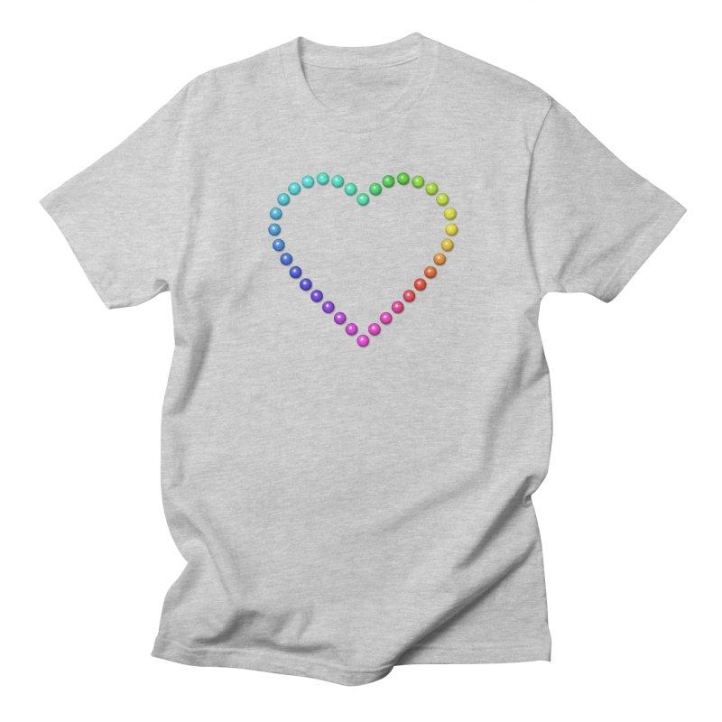 Rainbow Heart Women's Regular Unisex T-Shirt by The Digital Crafts Shop