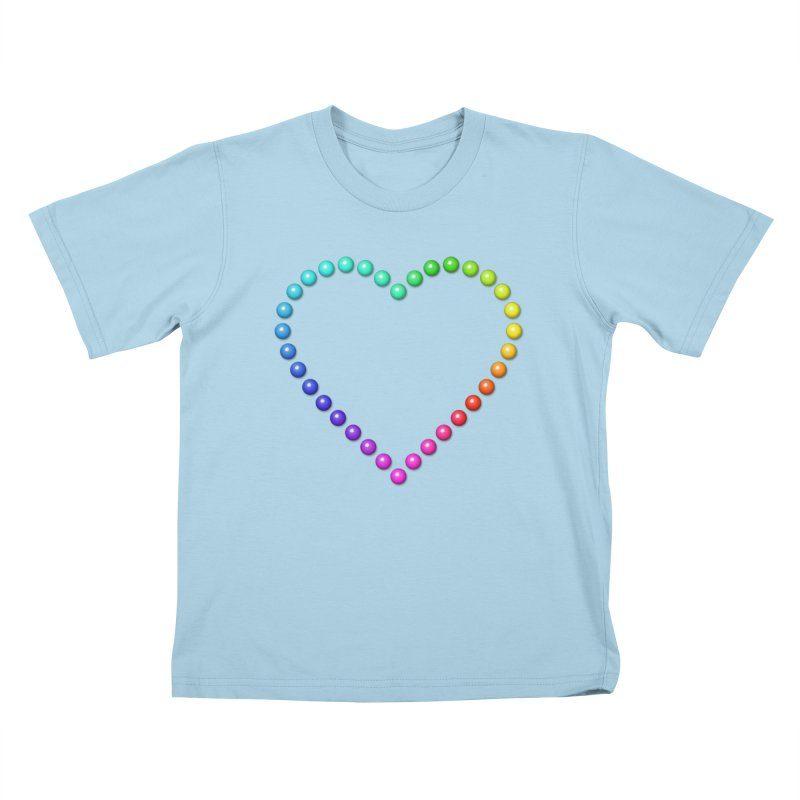 Rainbow Heart Kids T-Shirt by The Digital Crafts Shop