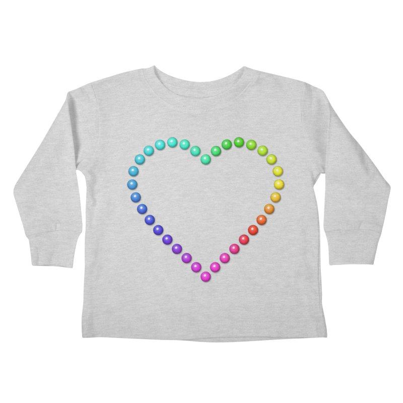 Rainbow Heart Kids Toddler Longsleeve T-Shirt by The Digital Crafts Shop