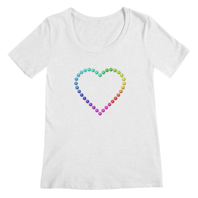 Rainbow Heart Women's Regular Scoop Neck by The Digital Crafts Shop