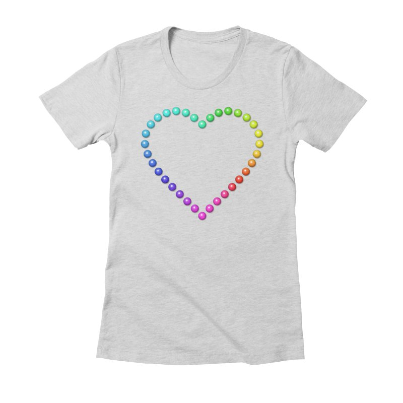 Rainbow Heart Women's Fitted T-Shirt by The Digital Crafts Shop