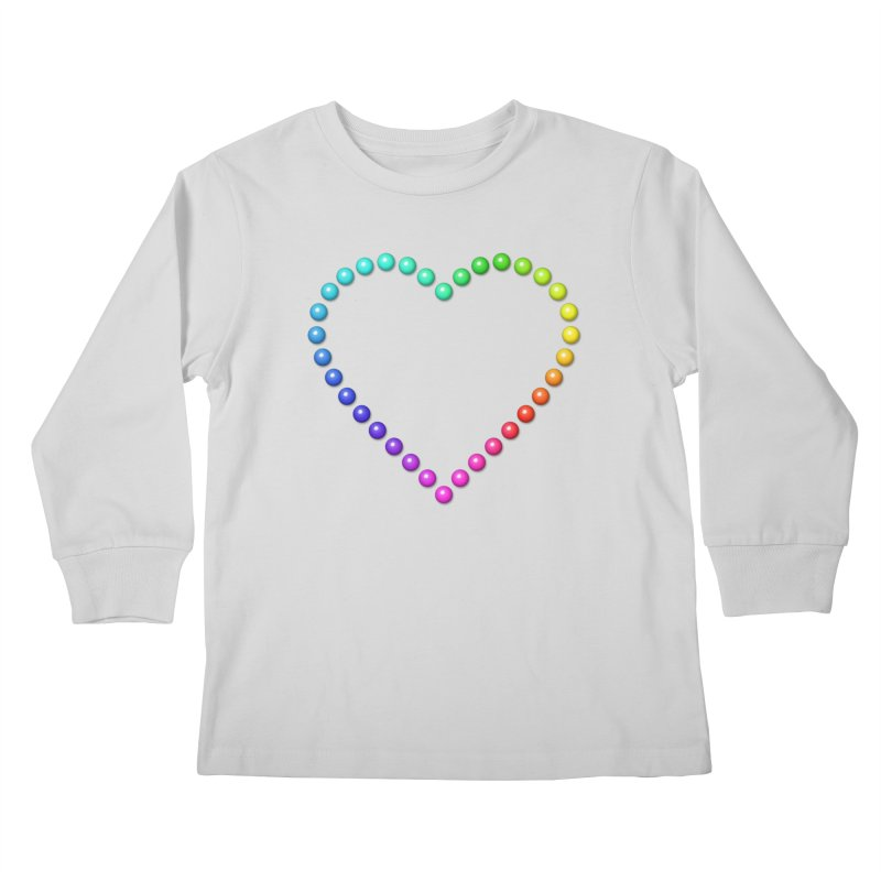 Rainbow Heart Kids Longsleeve T-Shirt by The Digital Crafts Shop