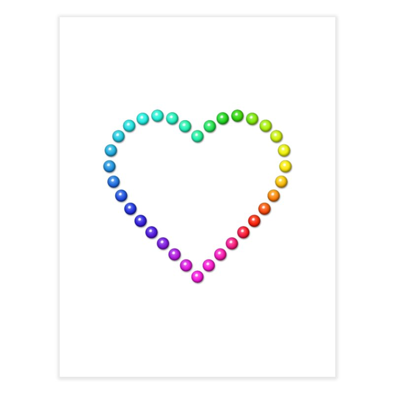 Rainbow Heart Home Fine Art Print by The Digital Crafts Shop