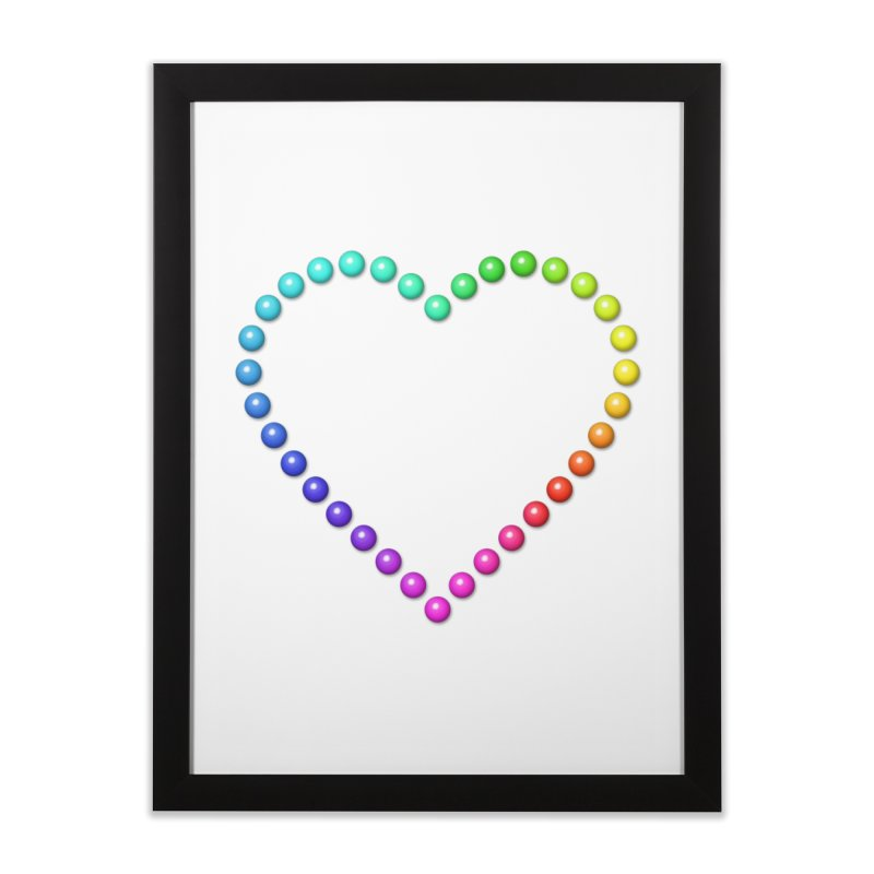 Rainbow Heart Home Framed Fine Art Print by The Digital Crafts Shop
